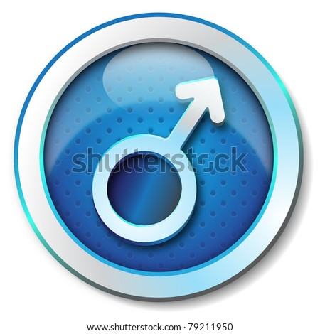 Gender man symbol icon
