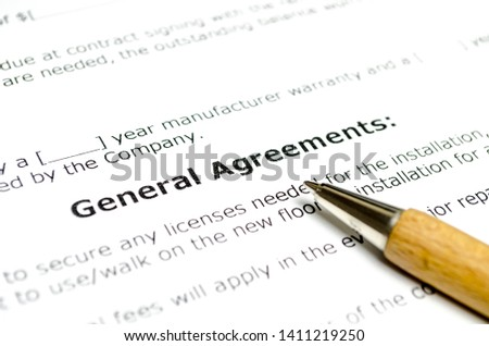 General agreements with wooden pen #1411219250