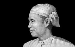 General Aung San, nationalist and founder of the modern Burmese army.  Portrait from Myanmar Banknotes.