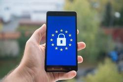 General Data Protection Regulation (GDPR)  on mobile phone
