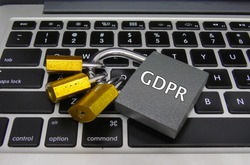 General Data Protection Regulation (GDPR) - Padlocks on Laptop, Data Protection Concept