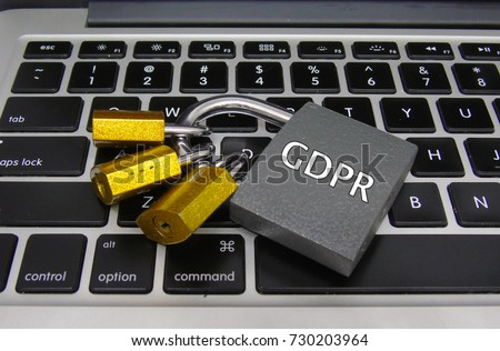 General Data Protection Regulation (GDPR) - Padlocks on Laptop, Data Protection Concept #730203964