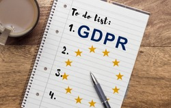 General Data Protection Regulation (GDPR) to do list