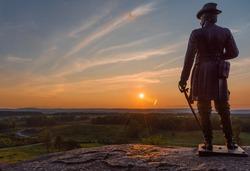 General Gouverneur Warren overlooking Gettysburg.