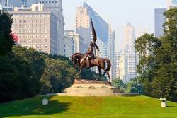 General John Logan Monument in Grant Park, Chicago