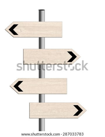 General purpose signpost, white background. #287033783