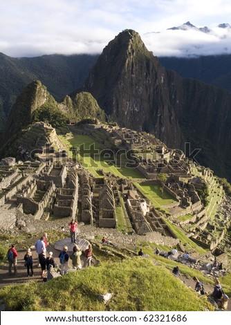 General View of Inca City of Machu Picchu, Peru - stock photo