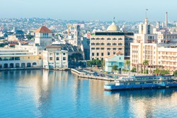 General view of Old Havana including several well known tourist destinations