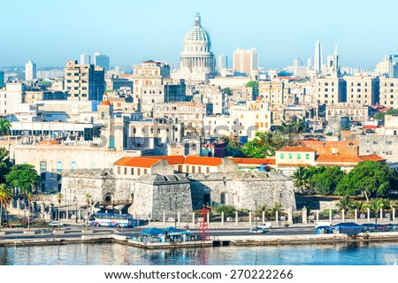 general view of old havana with ...