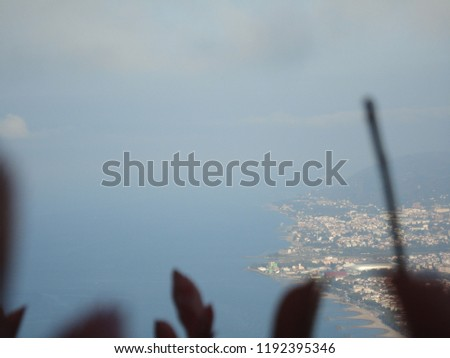 General view of the Ordu from Boz Hill (Gray Hill). Boz Hill (Gray Hill), Ordu, Turkey. #1192395346