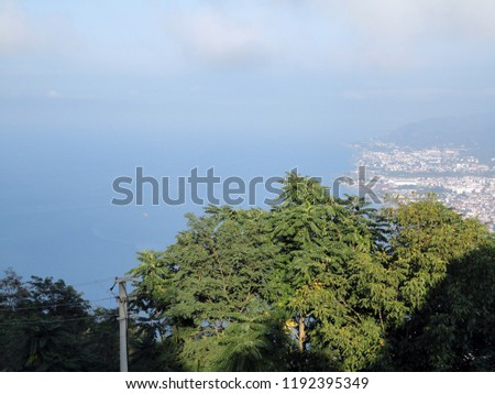 General view of the Ordu from Boz Hill (Gray Hill). Boz Hill (Gray Hill), Ordu, Turkey. #1192395349