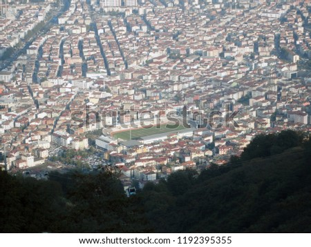 General view of the Ordu from Boz Hill (Gray Hill). Boz Hill (Gray Hill), Ordu, Turkey. #1192395355