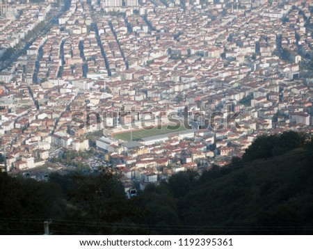 General view of the Ordu from Boz Hill (Gray Hill). Boz Hill (Gray Hill), Ordu, Turkey. #1192395361