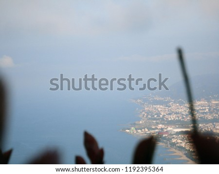 General view of the Ordu from Boz Hill (Gray Hill). Boz Hill (Gray Hill), Ordu, Turkey. #1192395364