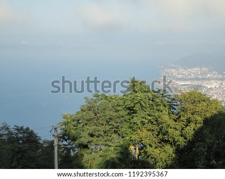 General view of the Ordu from Boz Hill (Gray Hill). Boz Hill (Gray Hill), Ordu, Turkey. #1192395367