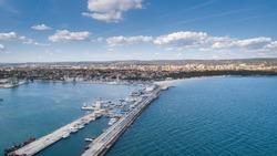 General view of Varna, the sea capital of Bulgaria. Beautiful cityscape over Varna city, Bulgaria. General view of Varna, the sea capital of Bulgaria