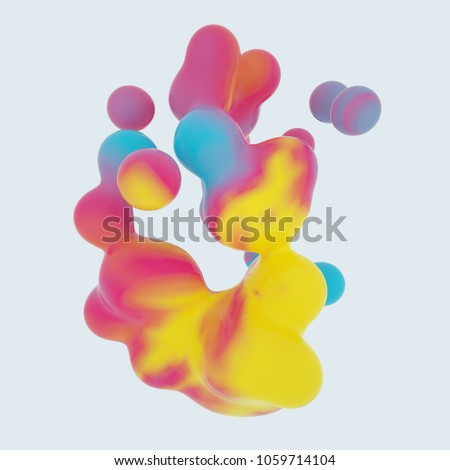 generative colorful 3D rendered metaball shape structure #1059714104