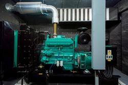 Generator Room Emergency power supply. Powered by Diesel power.