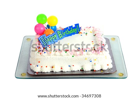 birthday cake symbol. Color of text- Any Symbols?- Where?- Birthday Cake with Candle.