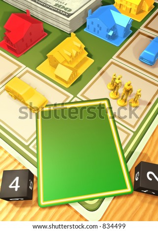 Generic Board Game Concept(fill in your own playing card) 3D