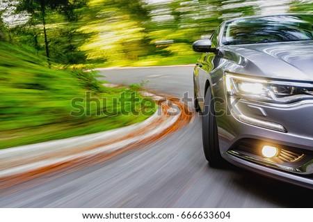 Generic car driving in a curve