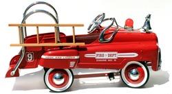 generic childs metal pedal car firetruck