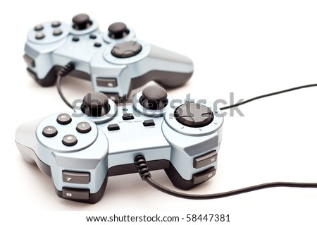 generic console/pc controllers on white