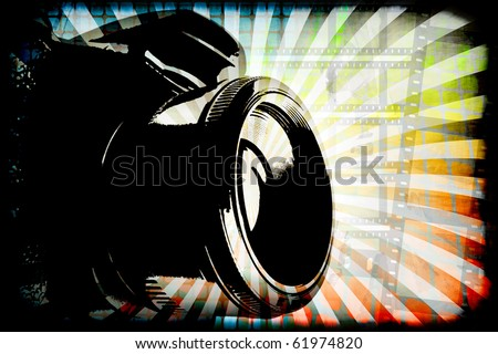 Generic digital camera photography graphic with copy space.