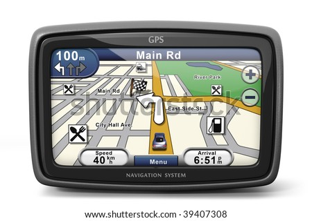 Generic GPS navigation system device (3d illustration)