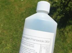 Generic Hydrogen Peroxide 35% chemical bottle