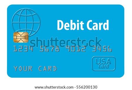 generic mock debit card...