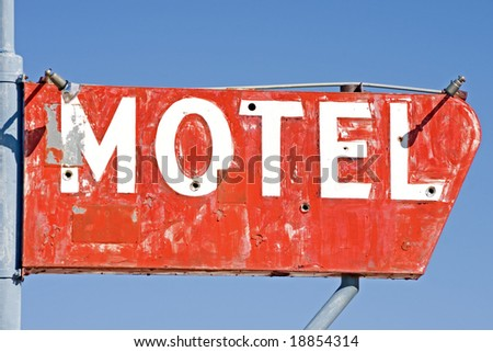 Generic motel sign found in a small town