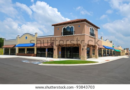 Generic New Shopping Center