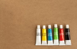 generic (not branded) oil paint tubes