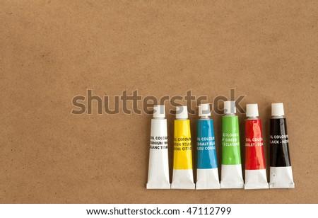 generic (not branded) oil paint tubes
