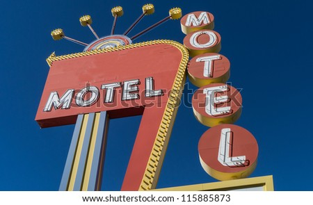 generic 1950s neon motel sign