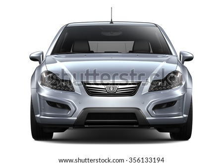 Generic silver car - front view