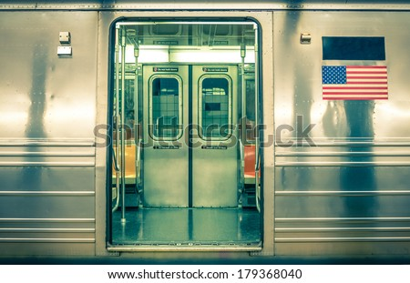 Generic underground train - New York City #179368040