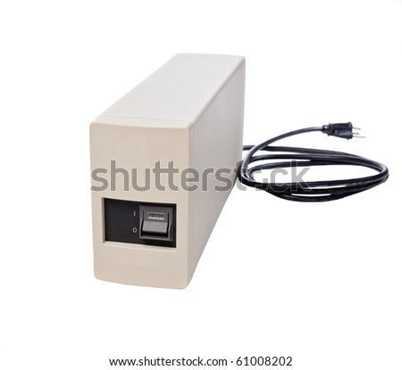 Generic UPS Isolated on a White Background.