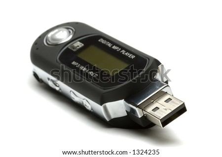 Generic usb mp3 player isolated over white