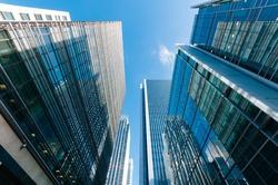 Generic view of Modern Skyscrapers in London