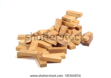 generic wooden block building, wood macro shot