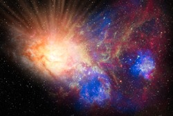 genesis big bang explosion in the outer scape galaxy Elements of this image furnished by NASA .