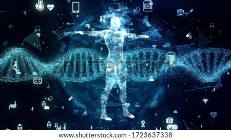 Genetic engineering concept. DNA. Gene therapy. Medical technology. Stock foto ©