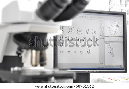 Genetic investigation with microscope and computer