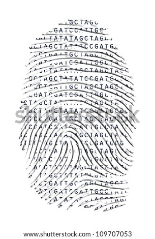 Genetic Latter Finger Print Isolated on White