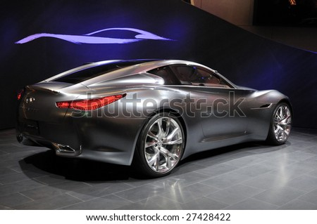 GENEVA – CIRCA MARCH 2009: Nissan Infinity concept car at Geneva International Motor Show at Palexpo Geneva Centre, circa March 2009 in Geneva, Switzerland. More than 130 vehicles were introduced.