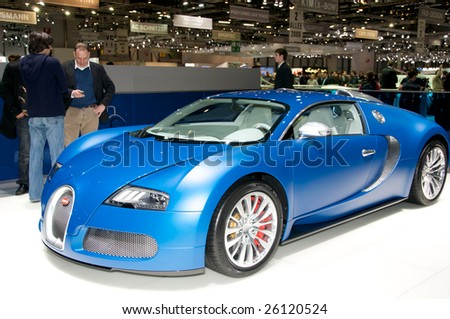 GENEVA, MAR 4:Bugatti Veyron displayed at the 79th Geneva Motor Show, in Swtizerland on March 4, 2009.