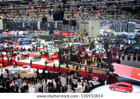 GENEVA, MAR 5: General view from the 83rd Geneva Motor Show, in Switzerland on March 5, 2013.