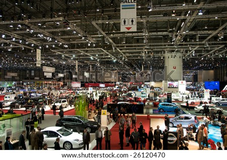 GENEVA, MAR 4: general vieww of the 79th Geneva Motor Show, in Swtizerland on March 4, 2009.